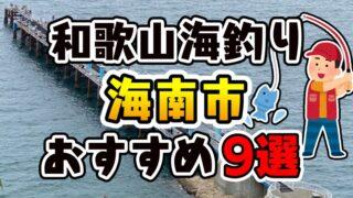 【完全保存版】和歌山県「海南市」おすすめ海釣りスポット9選