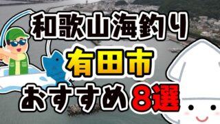【完全保存版】和歌山県「有田市」おすすめ海釣りスポット8選