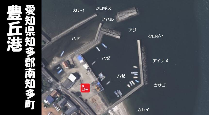 【クロダイが狙える|南知多町】『豊丘港:とよおかこう』の釣り場情報(住所・駐車場・釣れる魚)