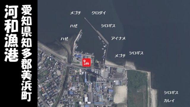 【根魚スポット|美浜町】『河和漁港:こうわぎょこう』の釣り場情報(住所・駐車場・釣れる魚)