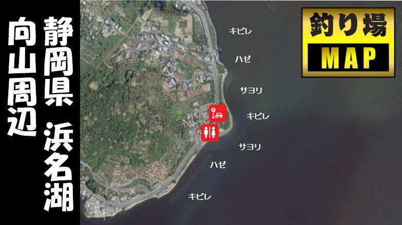 【浜名湖・細江湖エリア】『向山周辺』の釣り場ガイド(駐車場・釣れる魚・コンビニ)
