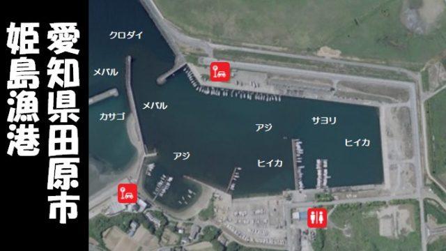 【夜が賑やかな港|田原市】『姫島漁港:ひめじまぎょこう』の釣り場ガイド(駐車場・トイレ・釣れる魚)