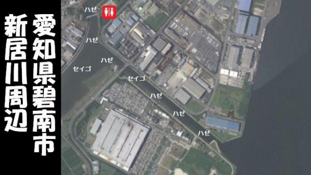 【半田市のハゼ・セイゴのスポット】『新居川周辺』の釣り場ガイド(駐車場・トイレ・釣れる魚)