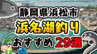 【永久保存版】静岡県『浜名湖』エリアのおすすめ釣りスポット29選まとめ