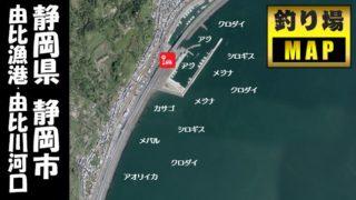 【静岡市】『由比漁港・由比川河口』の海釣りガイド(釣れる魚・駐車場・トイレ)
