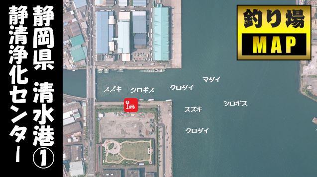 【清水港①】『静岡市岸壁・静清浄化センター』の釣り場ガイド(釣れる魚・駐車場・トイレ)
