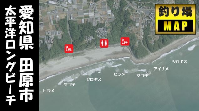 【愛知県田原市】『太平洋ロングビーチ』の海釣りガイド(釣れる魚・駐車場・トイレ)