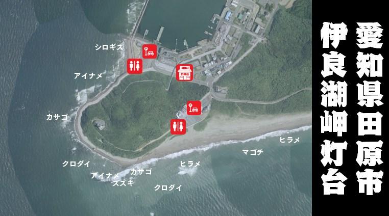 【愛知県田原市】『伊良湖岬灯台』の海釣りガイド(釣れる魚・駐車場・トイレ)