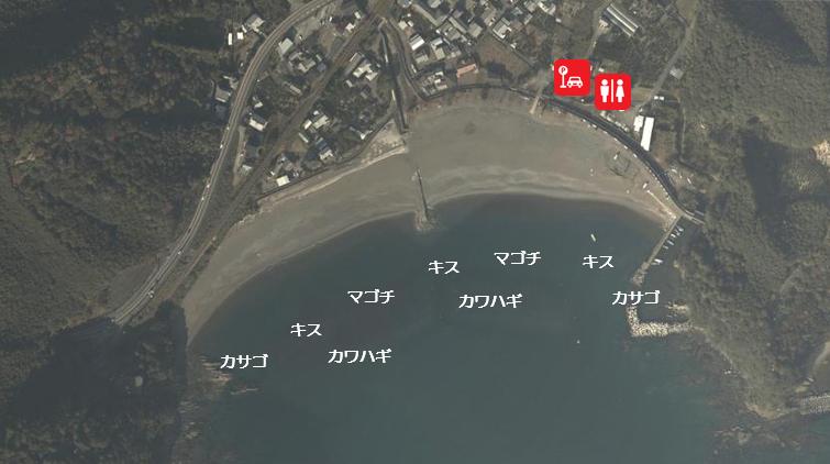 【三重県紀北町】『古里海水浴場』の海釣りガイド(釣れる魚・駐車場・トイレ)