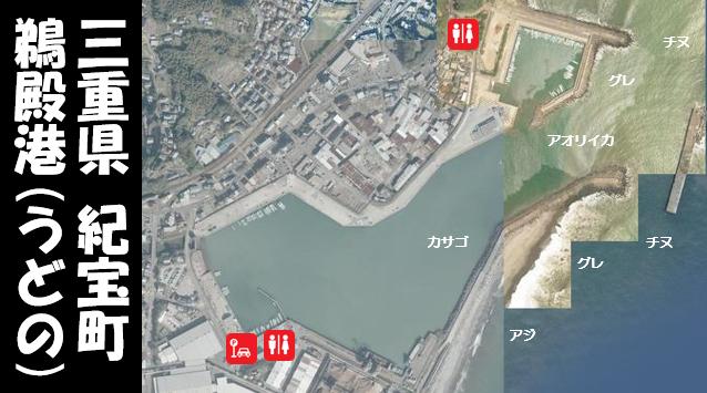 【三重県紀宝町】『鵜殿港|うどのこう』の海釣りガイド(釣れる魚・駐車場・トイレ)