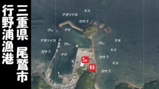 【三重県尾鷲市】『行野浦漁港(ゆくのうらぎょこう)』の海釣りガイド(釣れる魚・駐車場・トイレ)