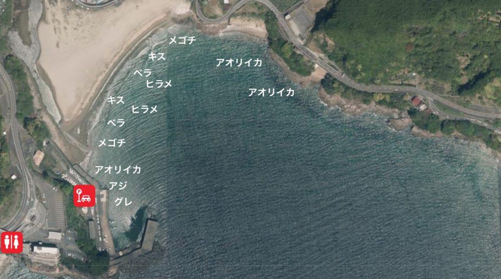 【三重県熊野市】『大泊海水浴場・松崎港』の海釣りガイド(釣れる魚・駐車場・トイレ)
