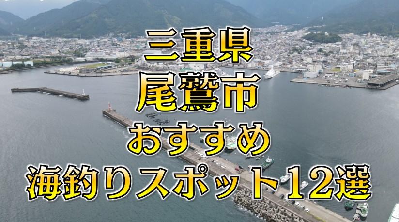 【保存版】三重県「尾鷲市」おすすめ海釣りスポット12選(釣れる魚・アクセス)