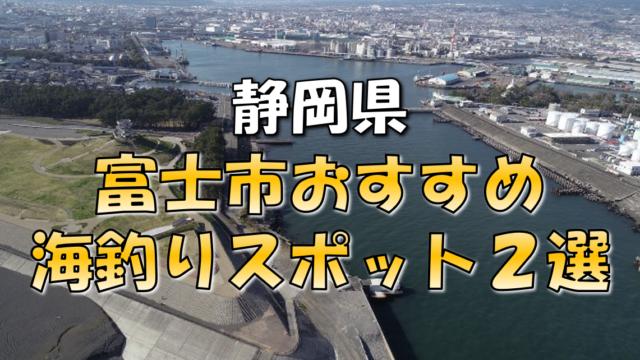 富士市おすすめ釣りスポット